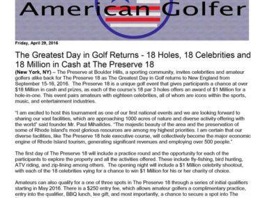 American Golfer - April 2016
